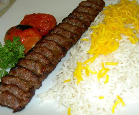 کباب کوبیده زعفرانی