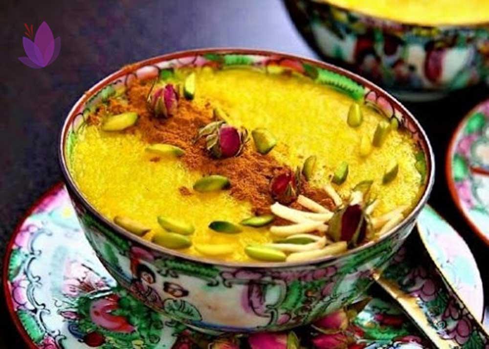 زعفران در غذا بهصورت شلهزرد